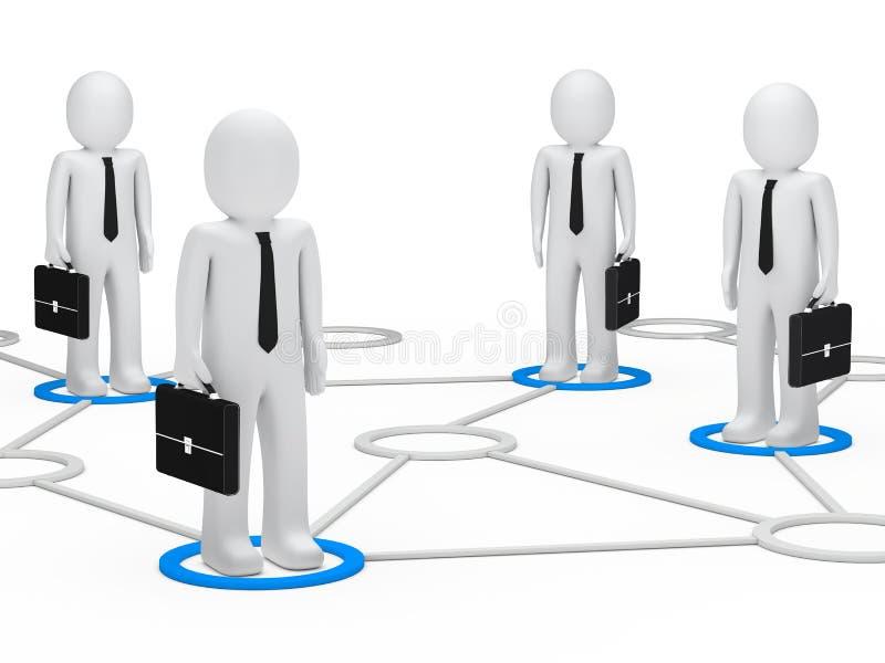 affärsmannätverk vektor illustrationer