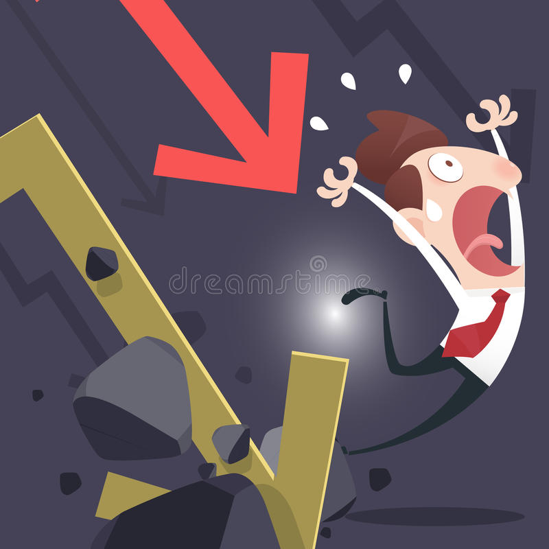 Affärsmannen förlorar pengar vektor illustrationer