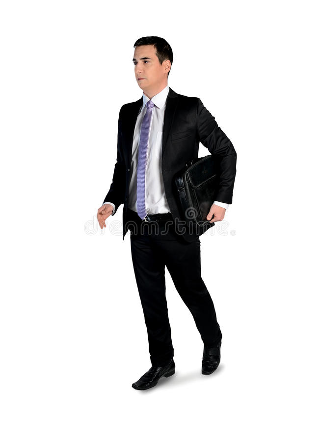 Affärsmannen går sidan royaltyfri bild