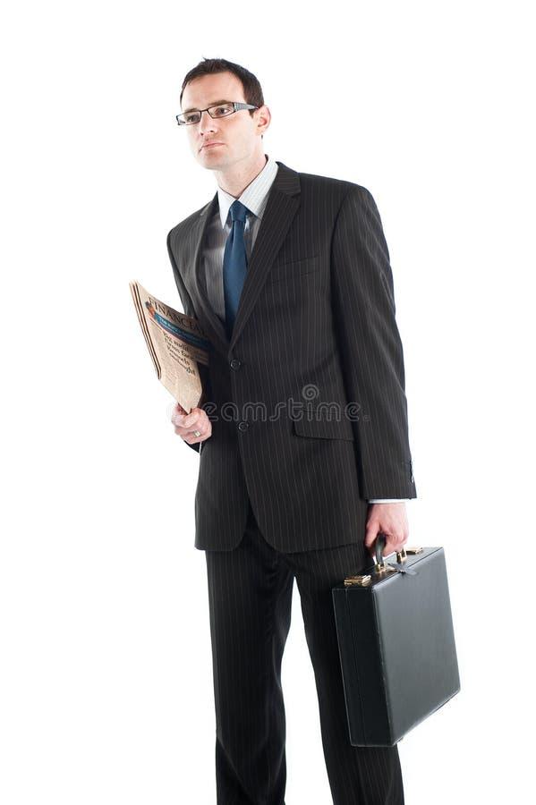 Affärsmannen som passas upp och, ordnar till för arbete royaltyfria foton