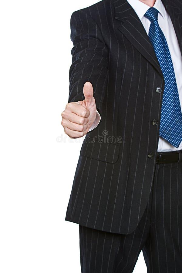 Affärsmannen tumm upp