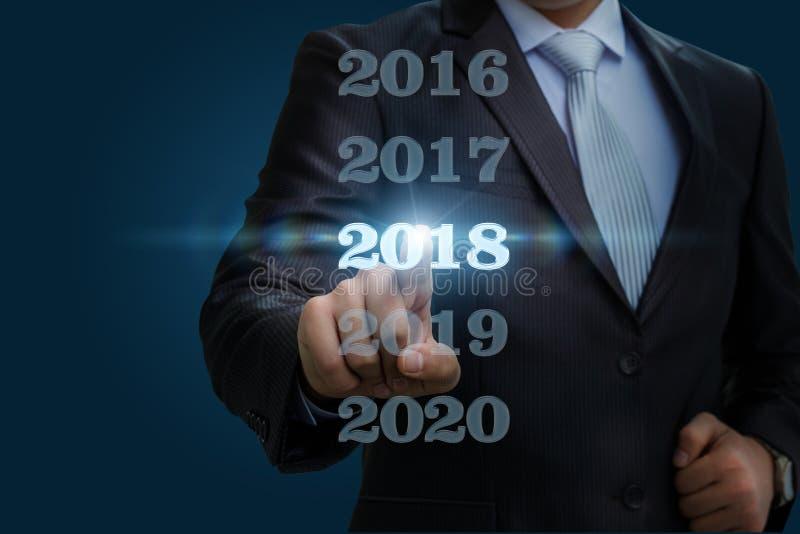 Affärsmannen väljer 2018 royaltyfri bild