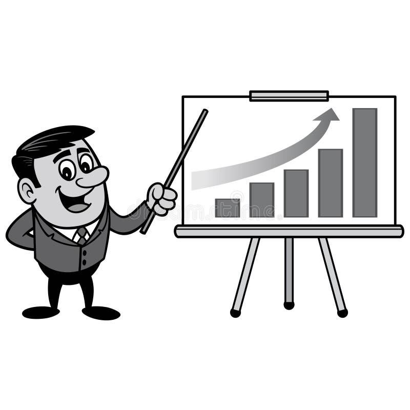 AffärsmanProfit Gain Presentation illustration stock illustrationer