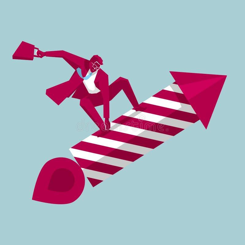 AffärsmanRide fyrverkerier vektor illustrationer