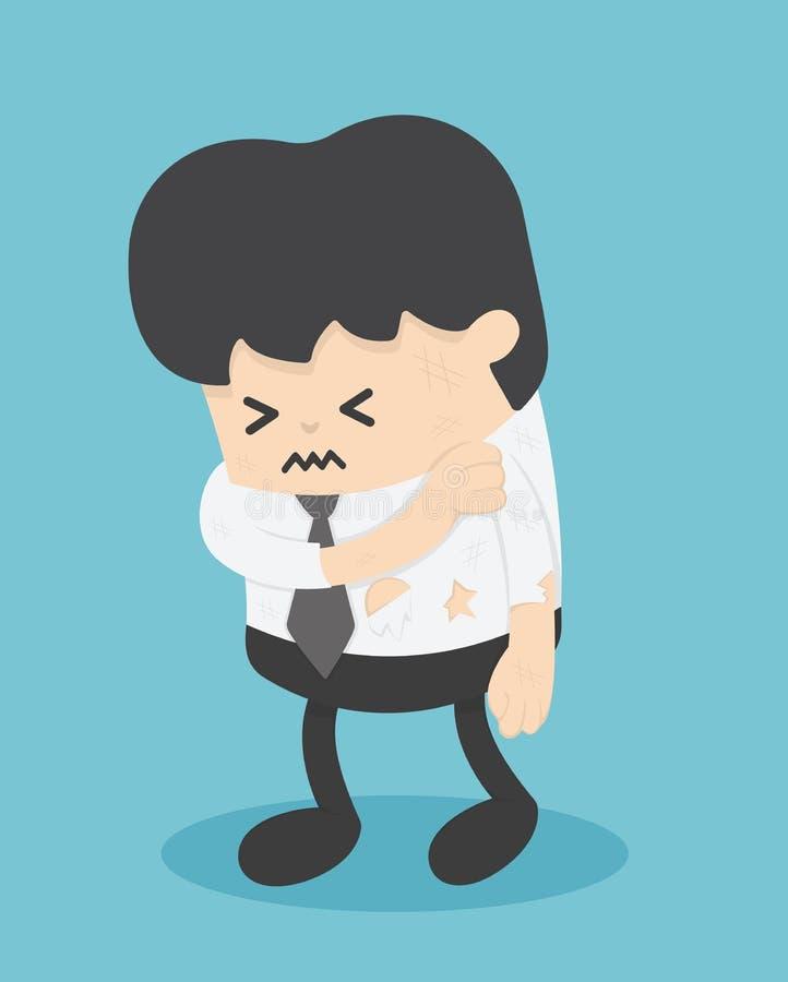Affärsmanshowen undertecknar skada vektor illustrationer