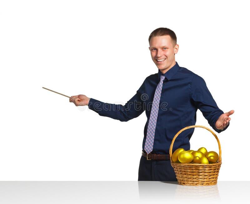 Affärsmanshowintrig av den lyckade affären royaltyfri bild