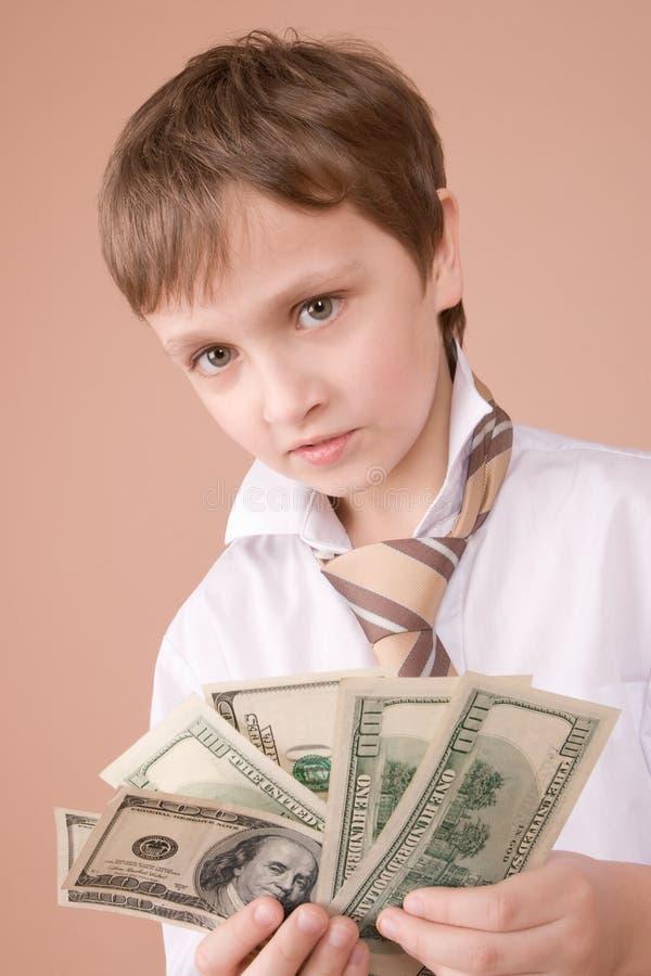 affärsmanståendebarn arkivbilder