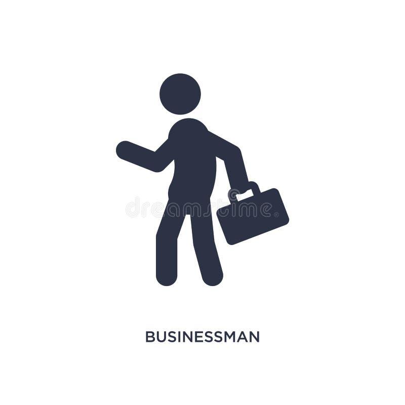 Affärsmansymbol på vit bakgrund Enkel beståndsdelillustration från strategibegrepp royaltyfri illustrationer