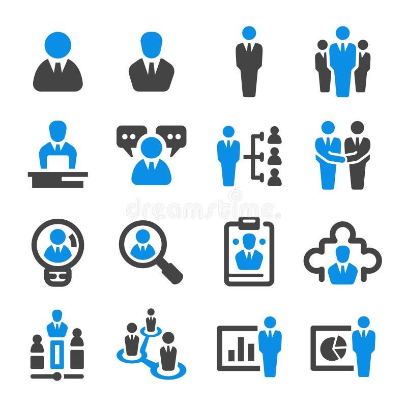 Affärsmansymbolsuppsättning vektor illustrationer