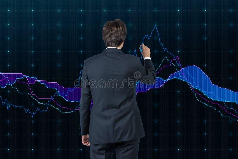 Affärsmanteckningsdiagram royaltyfri bild
