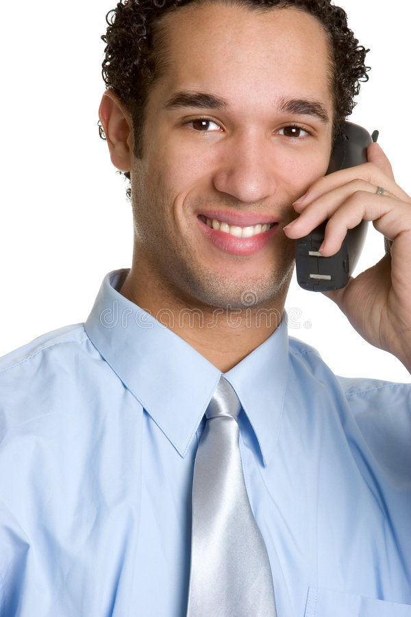 affärsmantelefon arkivfoto