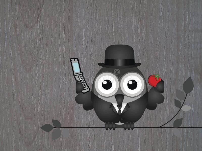 Affärsmantelefon stock illustrationer