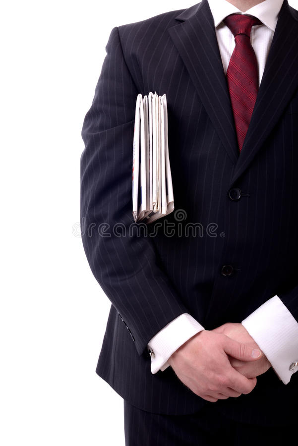 Affärsmantidningar arkivfoto