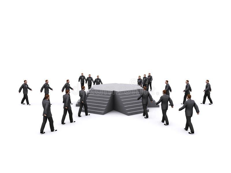 affärsmantrappa stock illustrationer