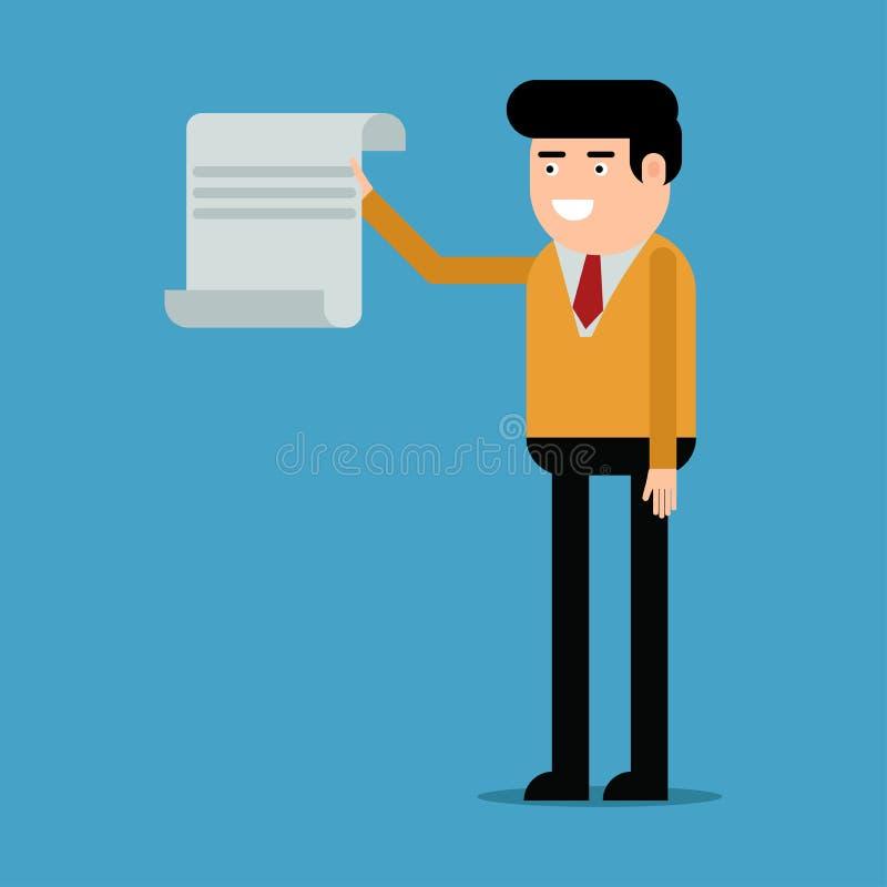 Affärsmanvisningdokument vektor illustrationer
