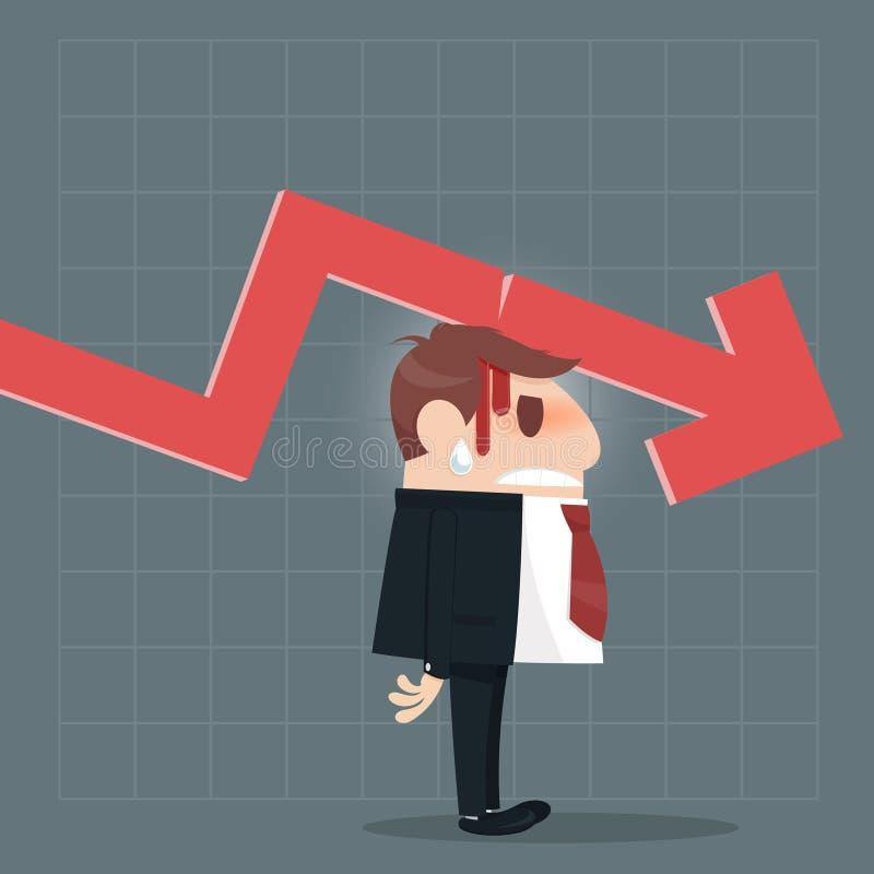 Affärsmanvisningen tummar ner vektor illustrationer