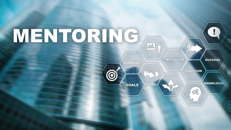 AffärsMentoring Personlig coachning Utbildande personligt utvecklingsbegrepp Blandat massmedia arkivfoto