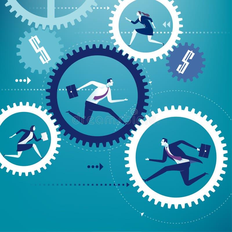 Affärsmotor vektor illustrationer