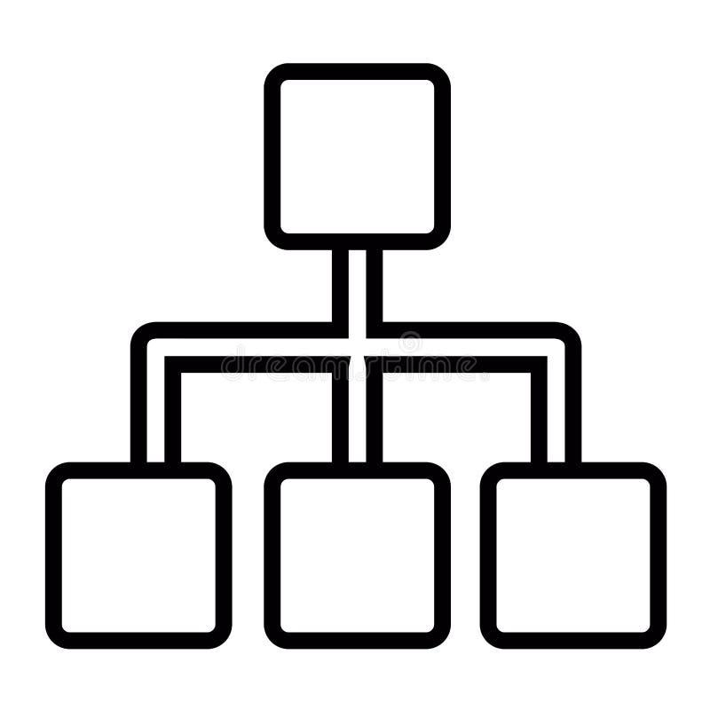 Affärsnätverkssymbol royaltyfri illustrationer