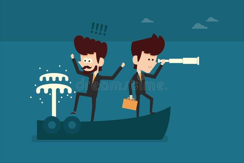 Affärsolycka stock illustrationer