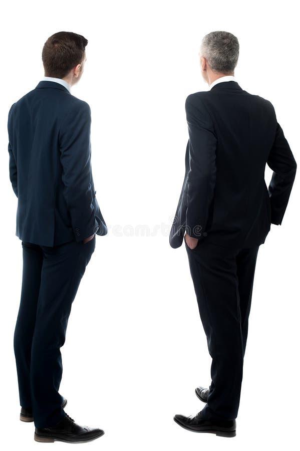 Affärspartners från baksida arkivbild