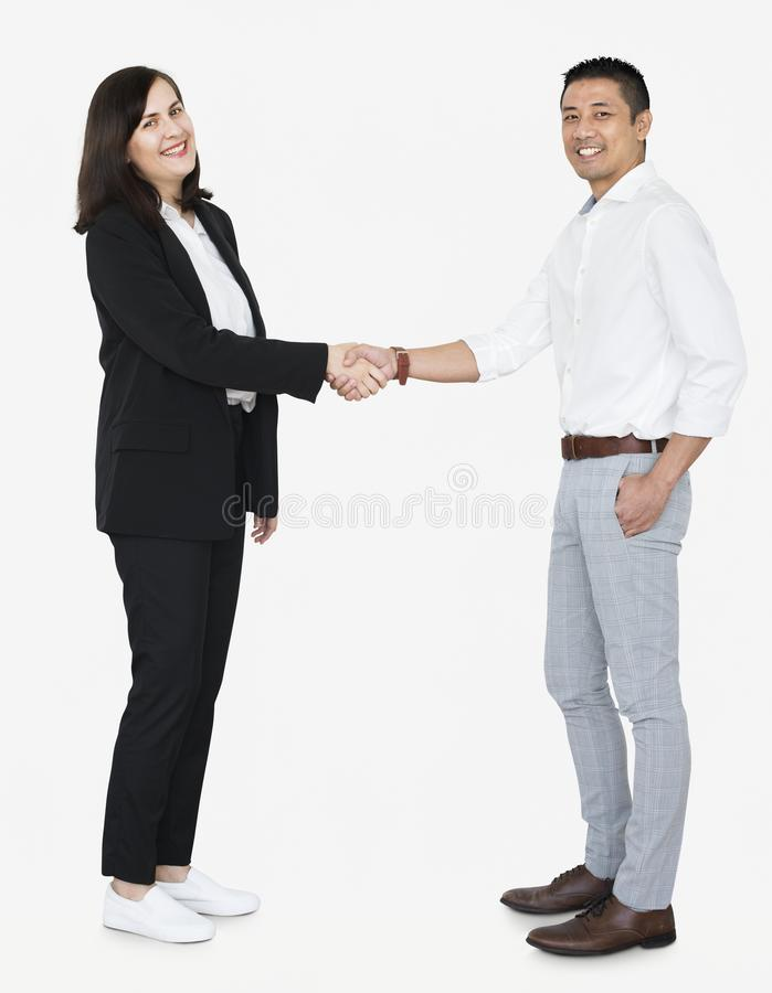Affärspartners i en handskakning royaltyfri fotografi