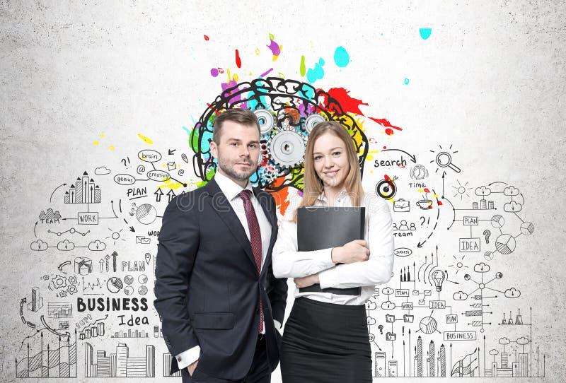 Affärspartners och affärsidé royaltyfri foto