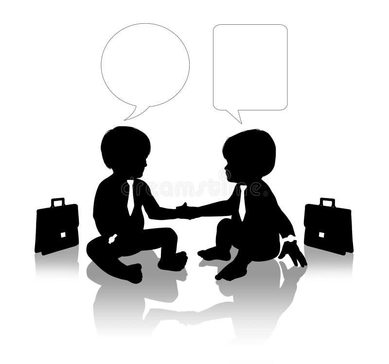 Affärspartners som skakar händer stock illustrationer