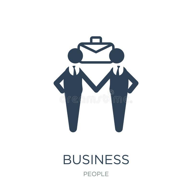 affärspartnerskapsymbol i moderiktig designstil affärspartnerskapsymbol som isoleras på vit bakgrund affärspartnerskap royaltyfri illustrationer