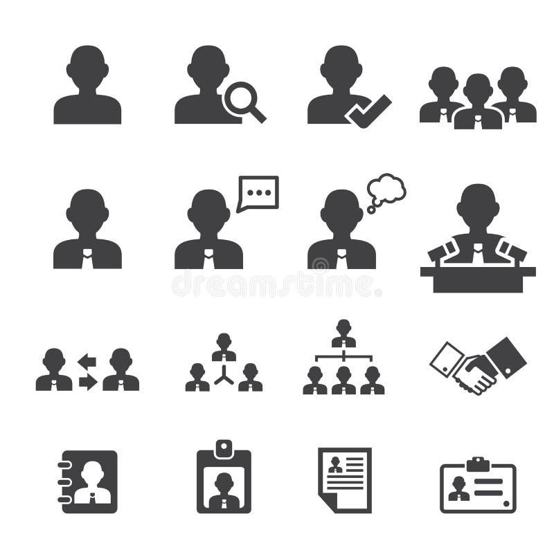 Affärsperson- och användaresymbol royaltyfri illustrationer