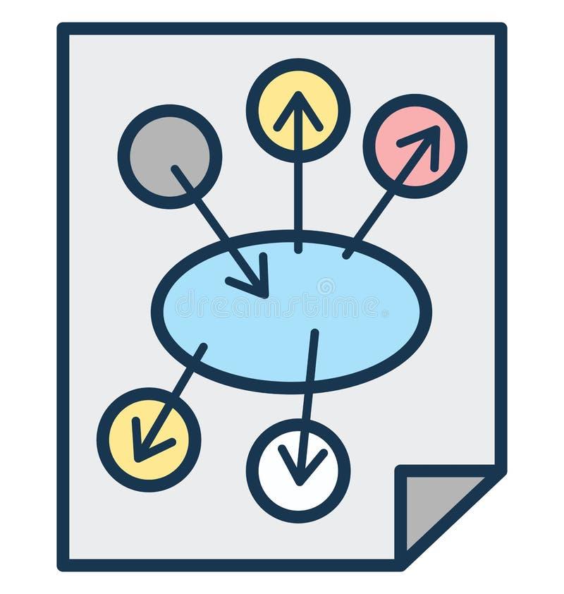 Affärsplanet, symbol för vektor för marknadsföringsplan isolerad kan vara lätt redigerar och ändrar stock illustrationer