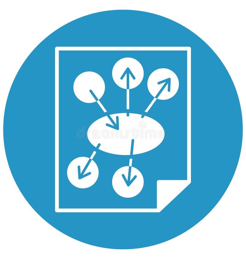 Affärsplanet, symbol för vektor för marknadsföringsplan isolerad kan vara lätt redigerar och ändrar royaltyfri illustrationer