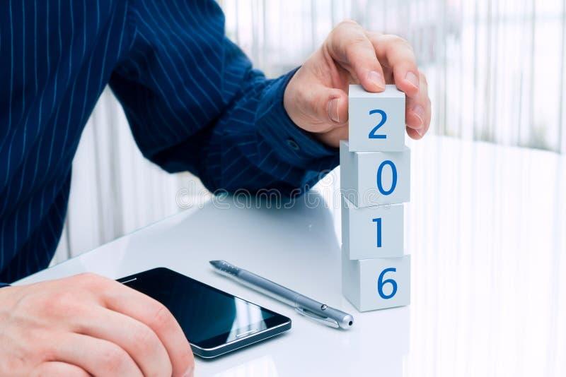 Affärsplanläggning för 2016 år royaltyfria foton
