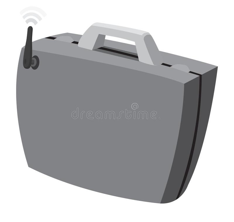 Affärsportfölj med wifiinternetuppkoppling vektor illustrationer