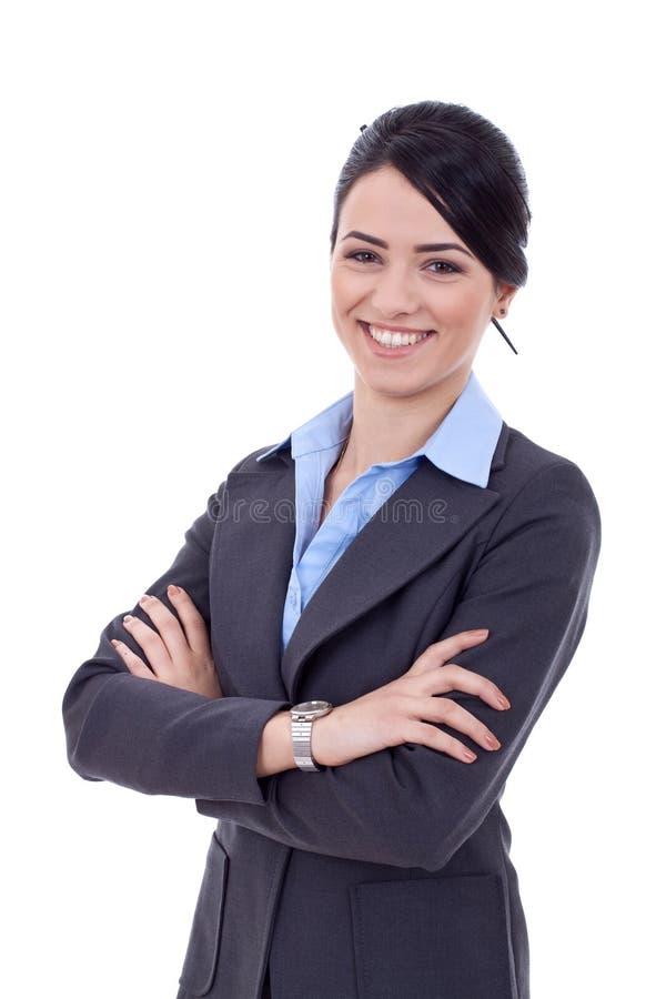 affärspositivekvinna royaltyfria bilder