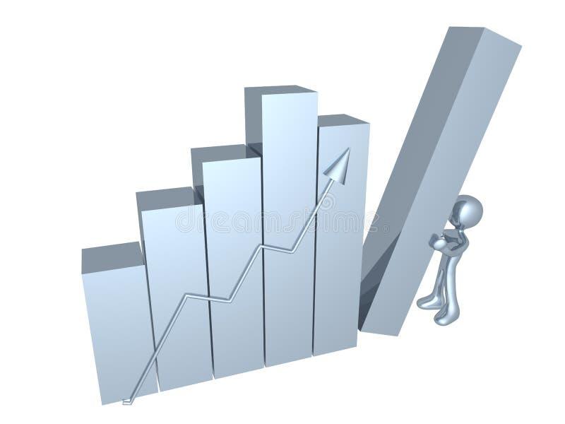 affärsprogress stock illustrationer