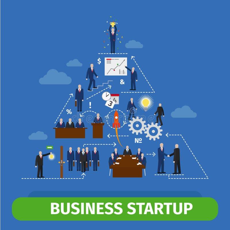 Affärspyramidinfographics stock illustrationer