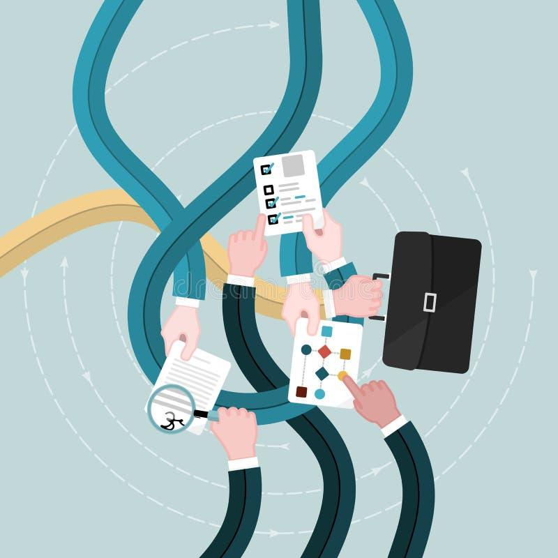 Affärsrevision stock illustrationer