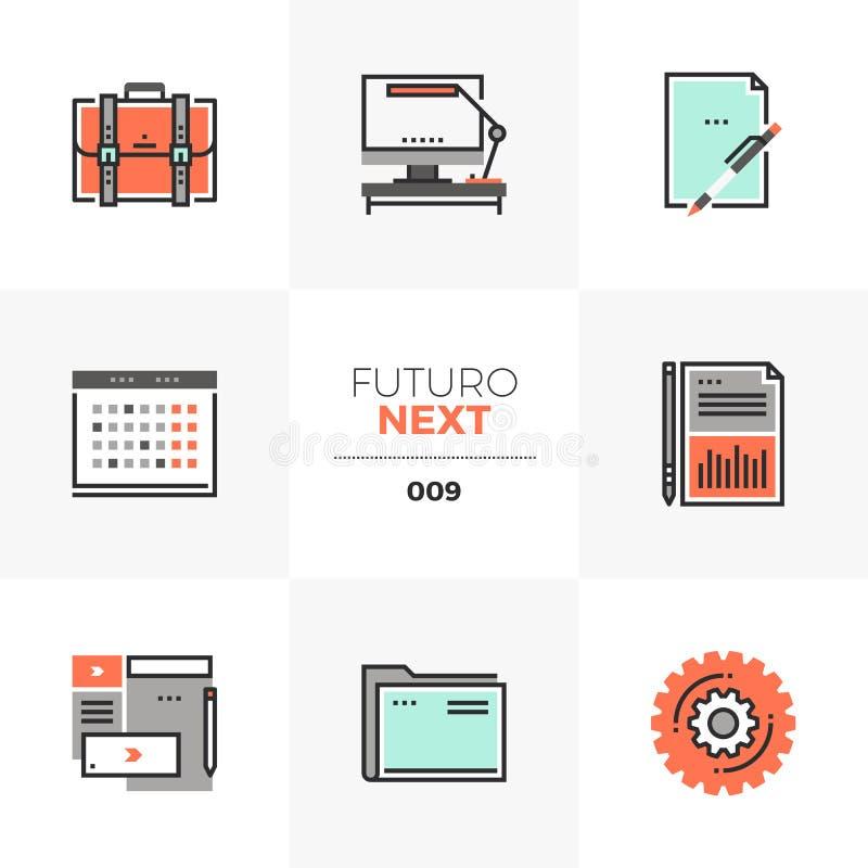 AffärssakerFuturo nästa symboler vektor illustrationer