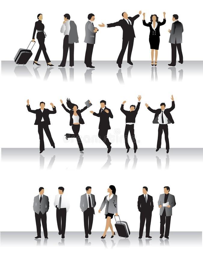 affärssamlingsfolk stock illustrationer
