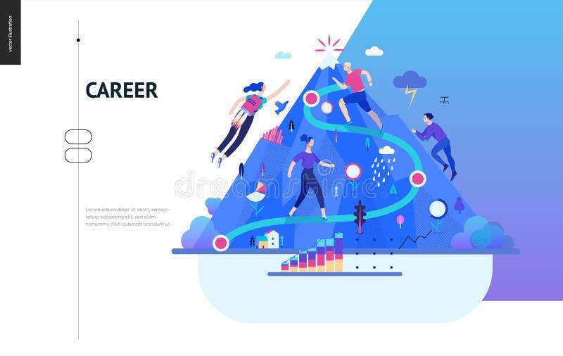 Affärsserie - karriärrengöringsdukmall royaltyfri illustrationer