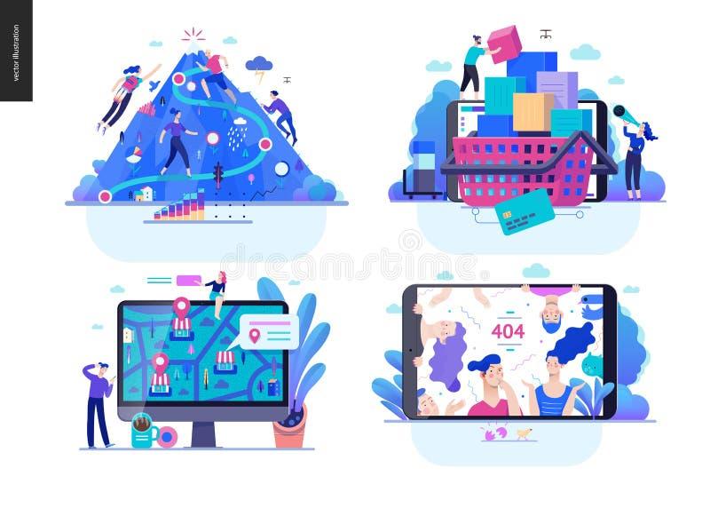 Affärsserie - uppsättning royaltyfri illustrationer