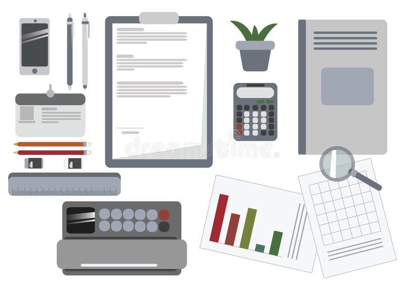 Affärsskrivbordutrustning arkivfoto