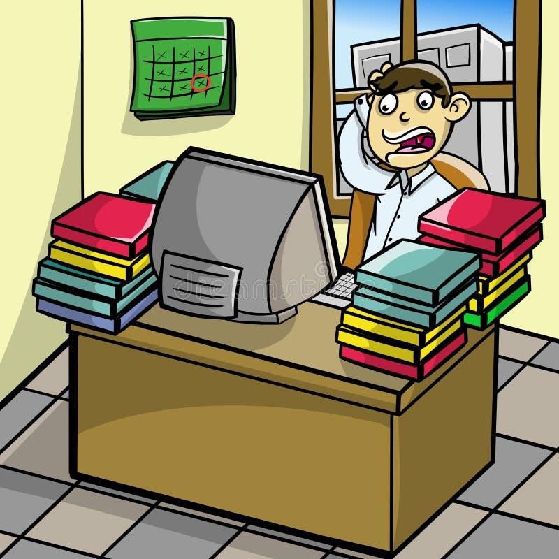 Affärsspänning vektor illustrationer