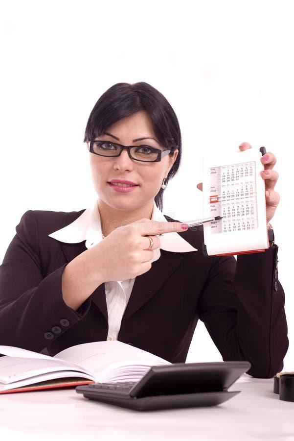 affärsståendekvinna arkivbild