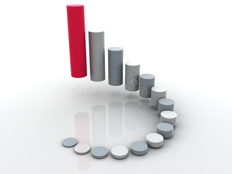 affärsstatistik royaltyfri illustrationer