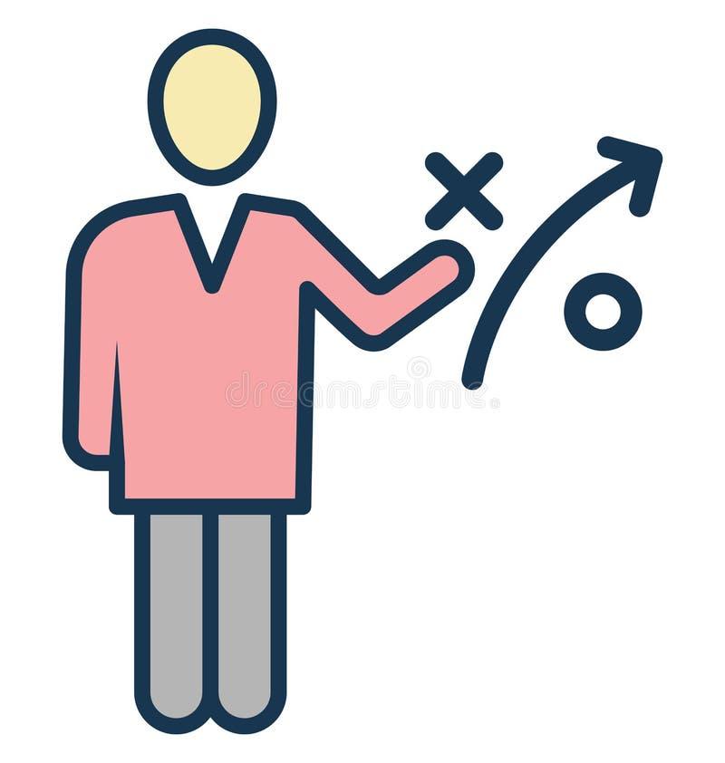 Affärsstrategi, affärsmannen Isolated Vector Icon kan vara lätt redigerar och ändrar stock illustrationer