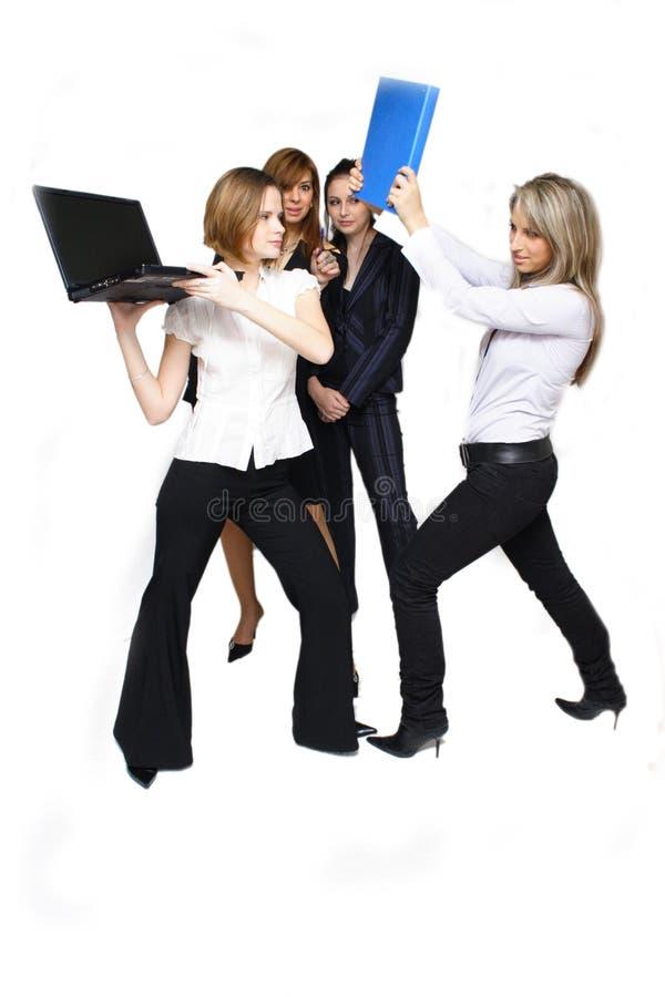 affärsstridighetkvinnor royaltyfria foton