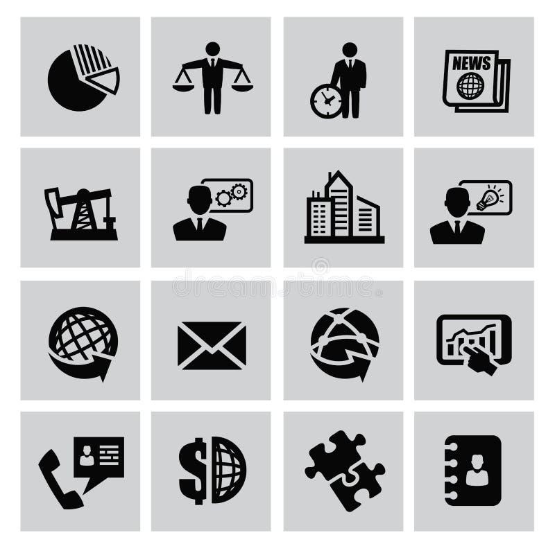 Affärssymbol vektor illustrationer