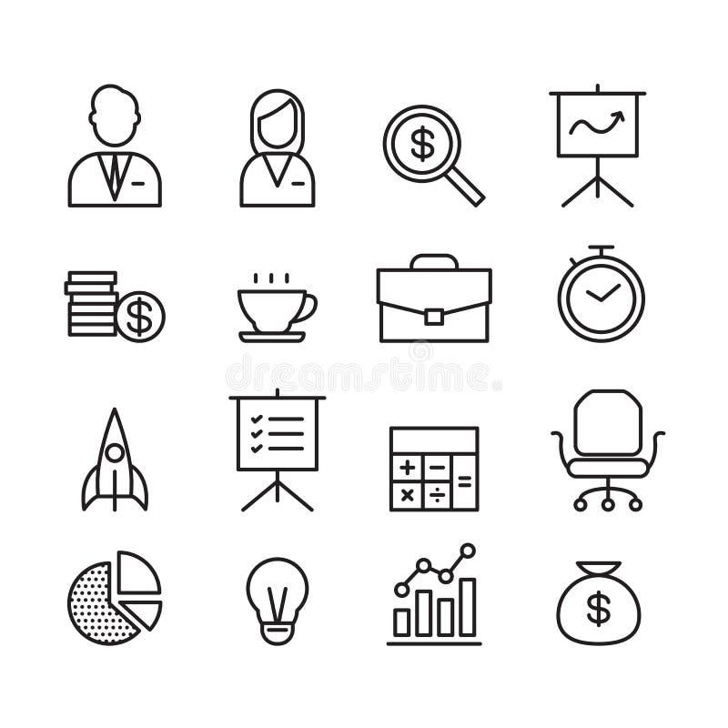 Affärssymbol, vektor stock illustrationer